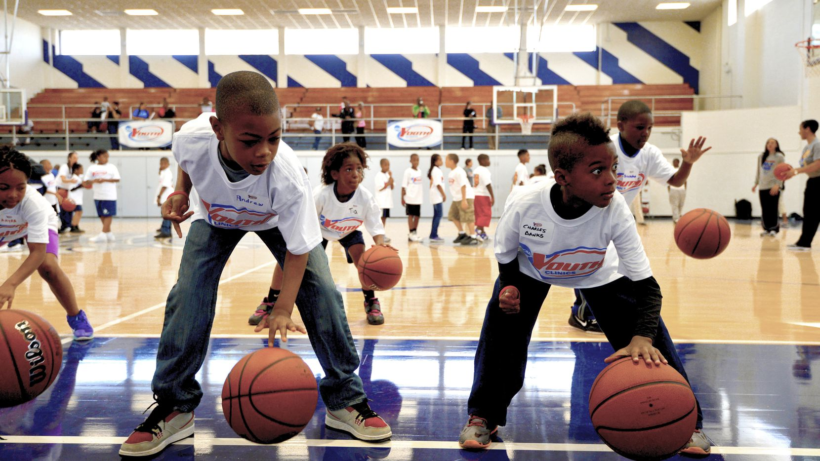 Kids can participate in a youth basketball clinic at Tourney Town in Dallas on April 1.