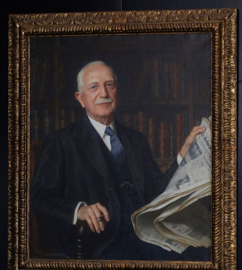 A portrait of George Bannerman Dealey,  longtime publisher of The Dallas Morning News.