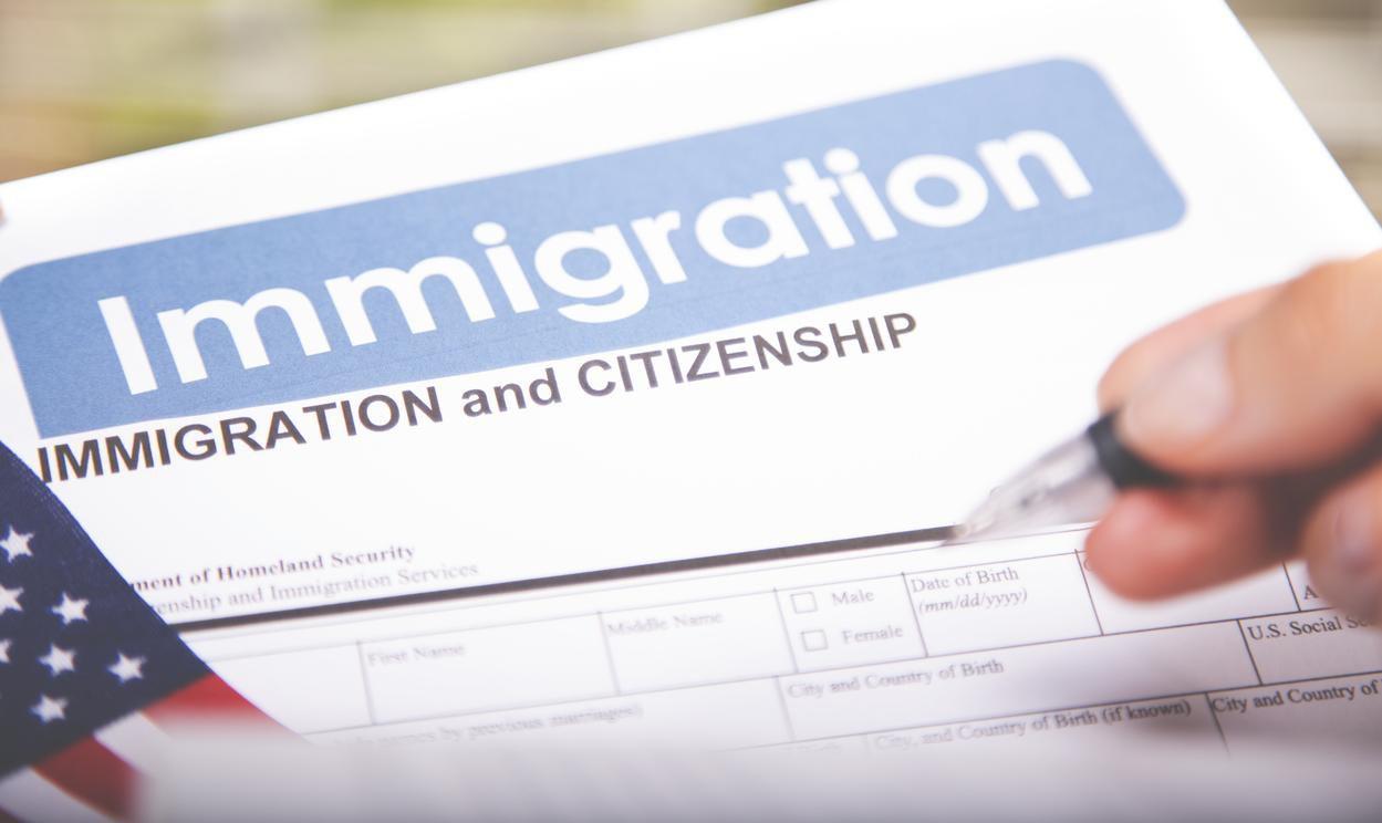 La forma para solicutar la ciudadanía estadounidense.(GETTY IMAGES)
