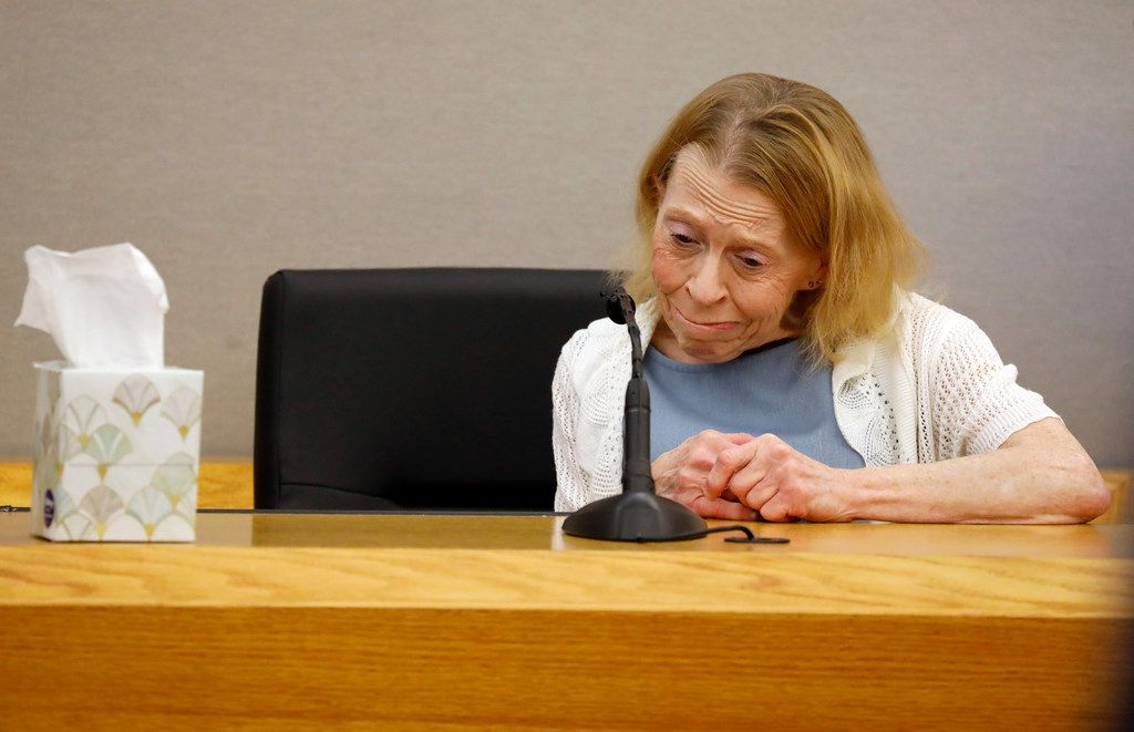 Amber Guyger's mother, Karen Guyger, prepares to testify during the sentencing phase of her daughter's murder trial.