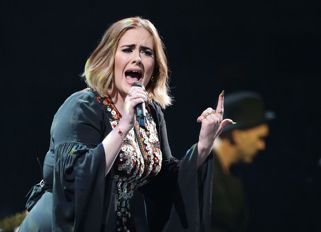 Adele performs a sold-out show in Dallas on Nov. 1 and 2. Tickets on the secondary market are going for as much as $800.