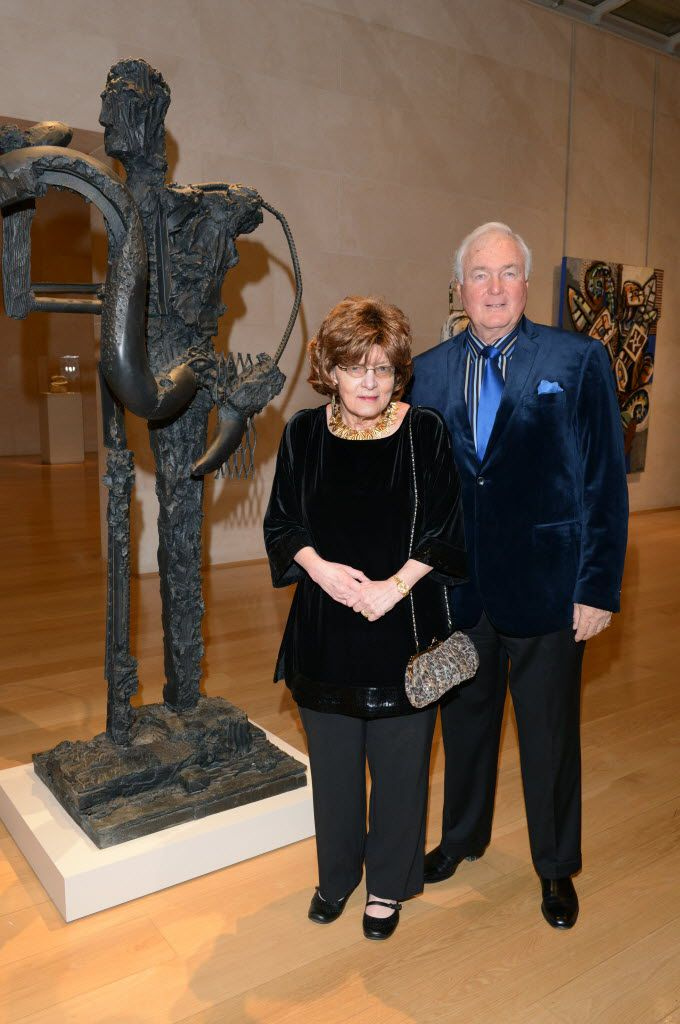 The late Nona Barrett and Richard Barrett, photographed at the Nasher Sculpture Center on Feb. 6, 2014. (Kristina Bowman/Special Contributor)
