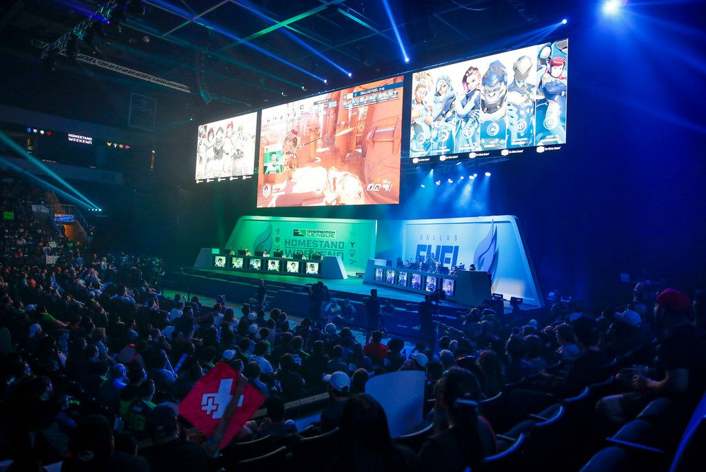 The Dallas Fuel played the Houston Outlaws in an Overwatch League match in Allen last April. Because of the strong spring showing, the first professional esports league to have city-based teams is expanding the matches held in teams' cities.
