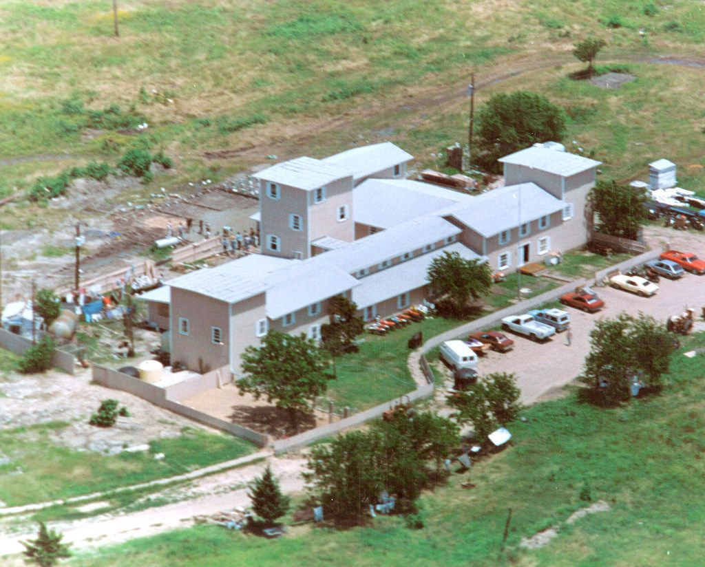 The Branch Davidian compound in Waco before the standoff began.