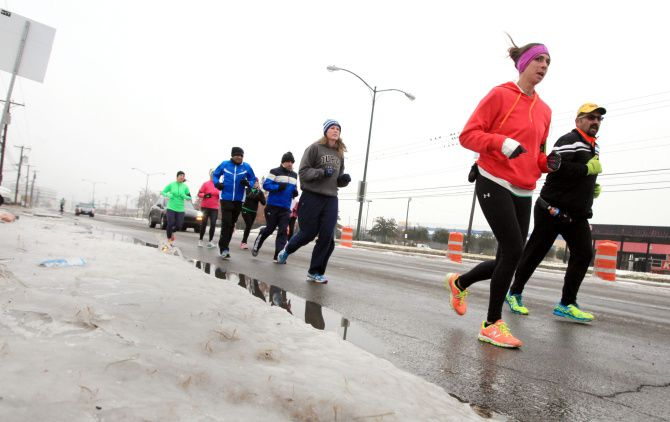 A group of runners was led by Jessica Riley, 31, of Tatum and Santana Gonzales, 48, of Amarillo on Sunday.