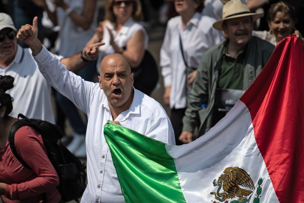 Lopez Obrador remains very popular, but tensions are rising over crime and other issues.