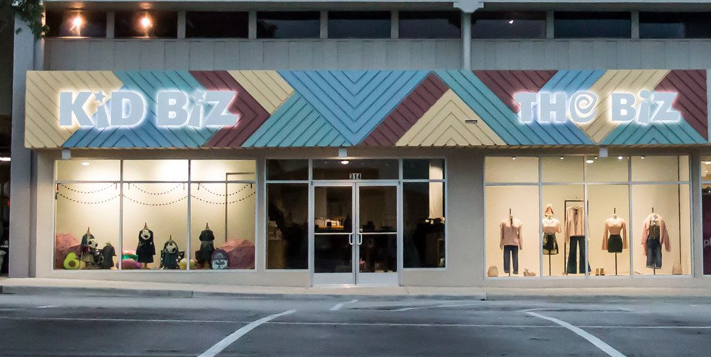 KidBiz TheBiz closed after 25 years in The Plaza at Preston Center in September and reopened this month  in Inwood Village.