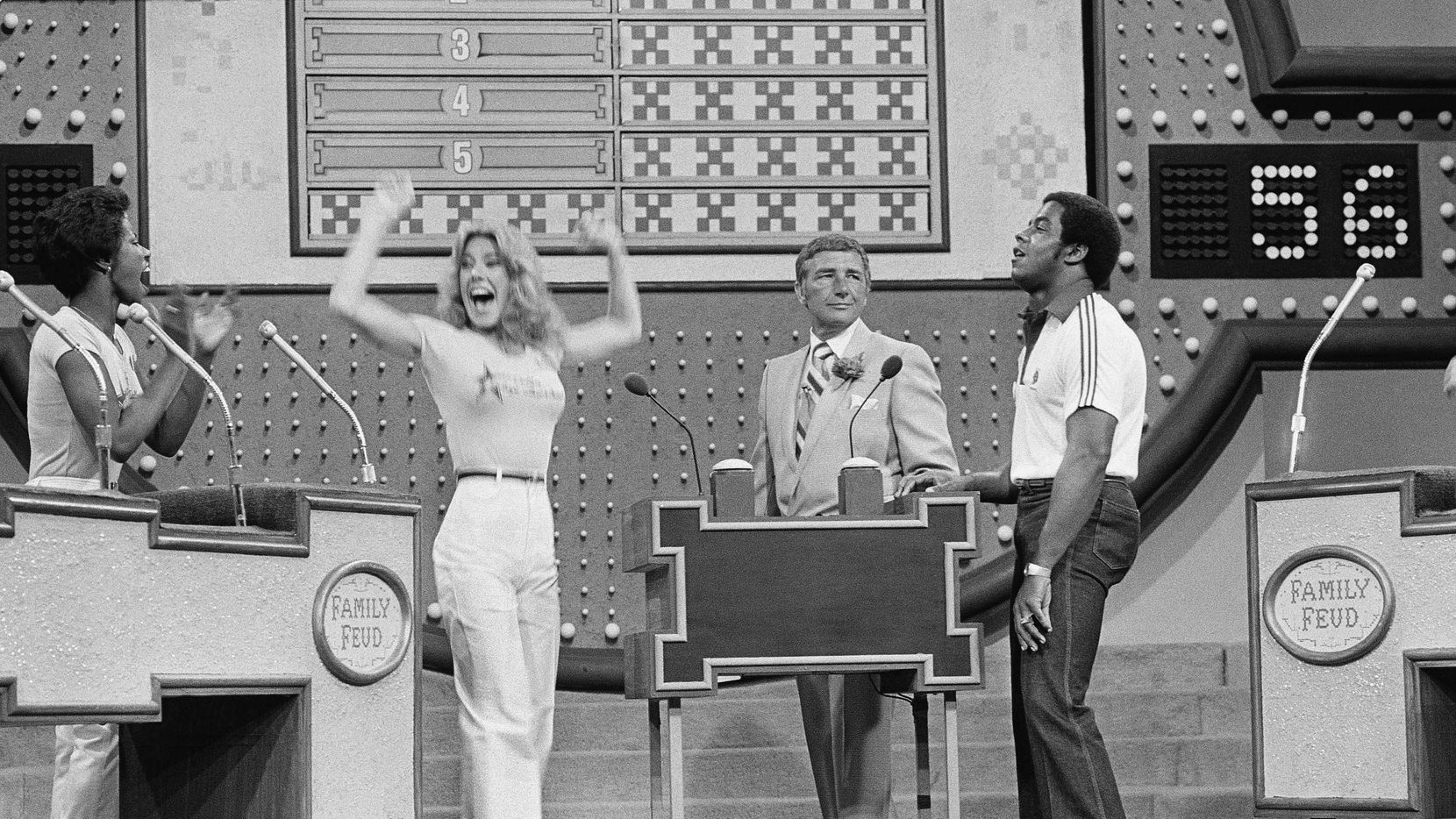 Tony Dorsett during an episode of Family Feud in June of 1980. (AP Photo/Randy Rasmussen, File)