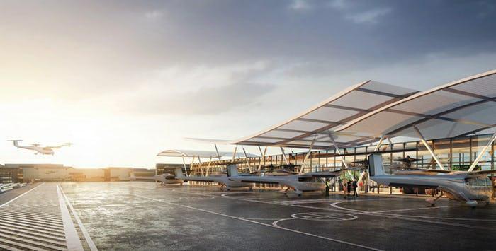 Diseños de los puertos áereos propuestos para Uber Elevate en Dallas (BOKA POWELL/CORTESÍA)