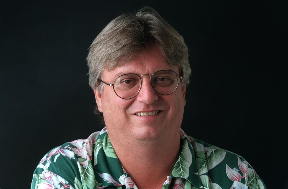 Known for an arsenal of Hawaiian shirts, here's Fraley  from a 1999 staff headshot.