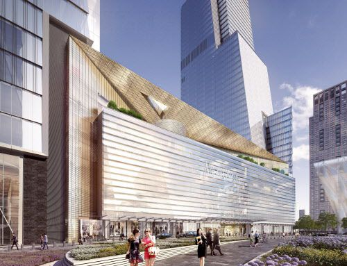 Neiman Marcus store under construction in Hudson Yards on the Far West Side of New York, which will occupy floors five through seven. The store, to open in 2018.