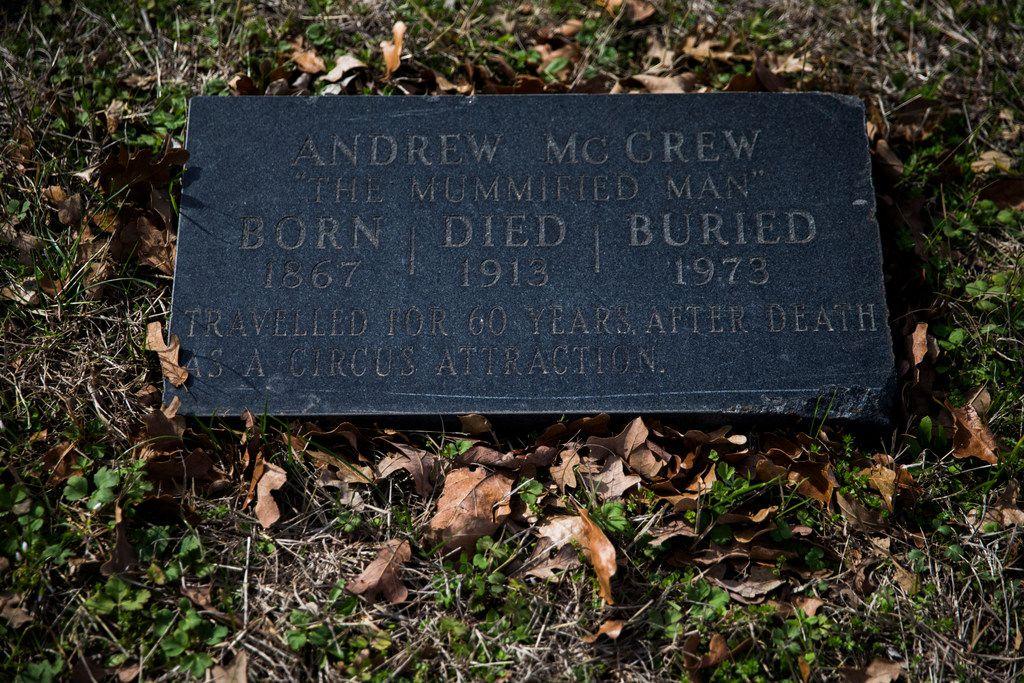 """Anderson """"Andrew"""" McCrew's headstone"""