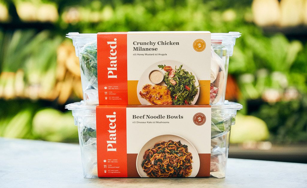 Plated meal kits are now in Albertsons and Tom Thumb stores in Dallas-Fort Worth, Idaho-based Albertsons Companies said on May 17, 2018. Albertsons bought Plated last September.