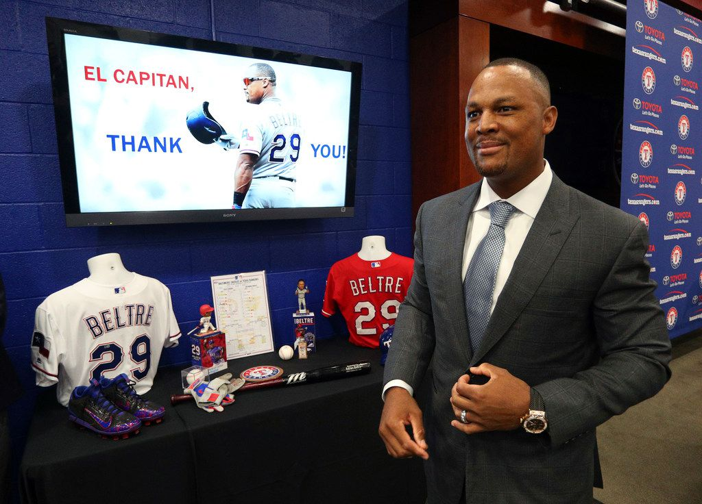 Adrian Beltre leaves a news conference in Arlington on Nov. 30, 2018. Beltre, who spent the last eight seasons of his Hall of Fame-caliber career with the Texas Rangers, formally said goodbye at a news conference at the ballpark where the four-time All-Star and five-time Gold Glove third baseman joined the 3,000-hit club in 2017.
