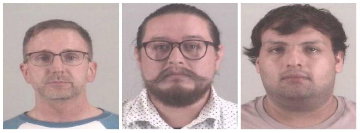 From left: Dusty Weldon Cloud, Adam Gregory Morin, Julio Cesar Rodriguez Mendoza
