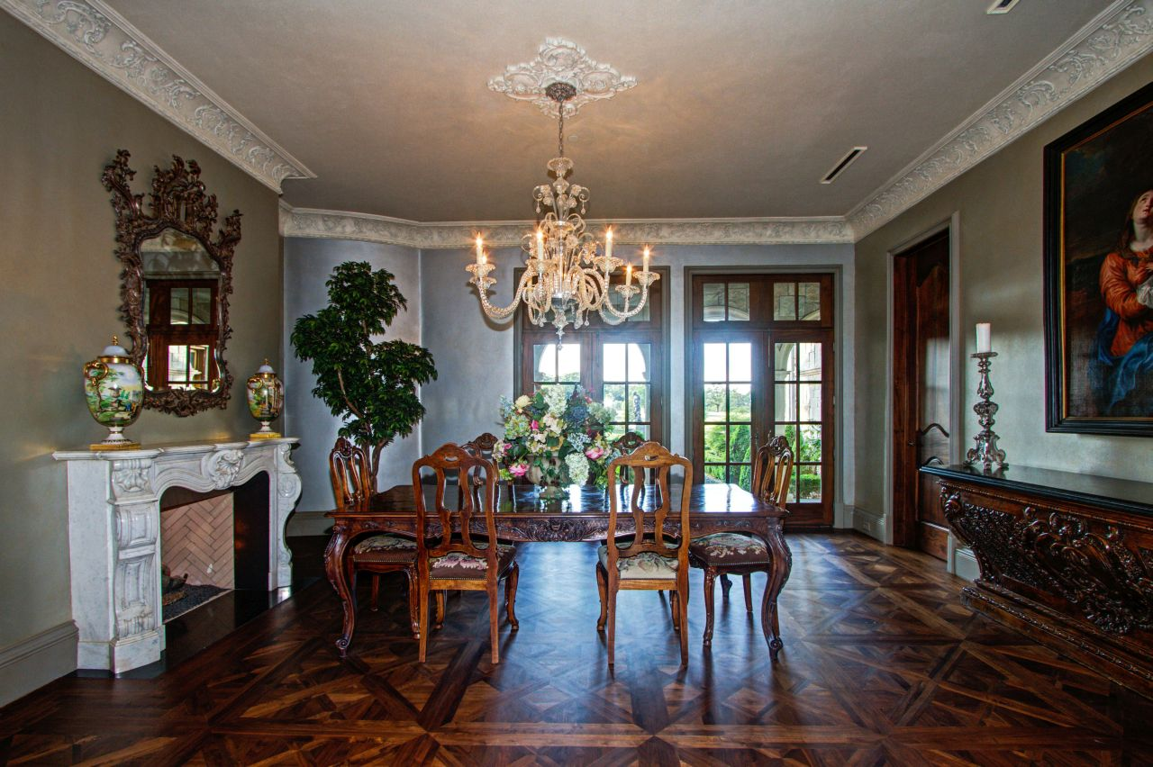 The formal dining room