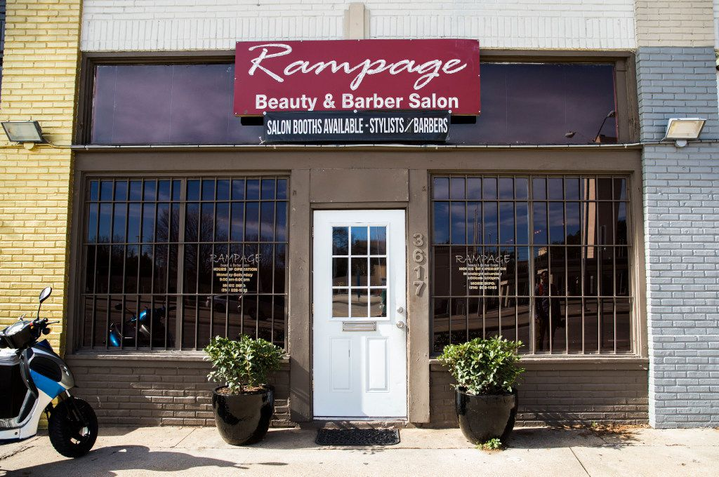 Rampage Beauty and Barber Salon across the street from Fair Park on Friday, January 20, 2017 on Parry Avenue in Dallas.