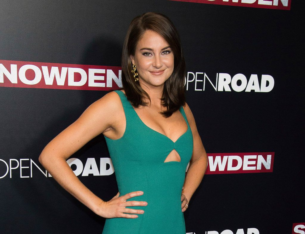 """FILE - In this Sept. 13, 2016 file photo, actress Shailene Woodley attends the premiere of """"Snowden"""" in New York. Woodley was arrested during a protest of the four-state Dakota Access pipeline in southern North Dakota. Morton County Sheriff's Department spokesman Rob Keller says the """"Divergent"""" star was arrested Monday, Oct. 10, for criminal trespass and engaging in a riot during a protest at a construction site that involved about 300 people. (Photo by Charles Sykes/Invision/AP, File)"""