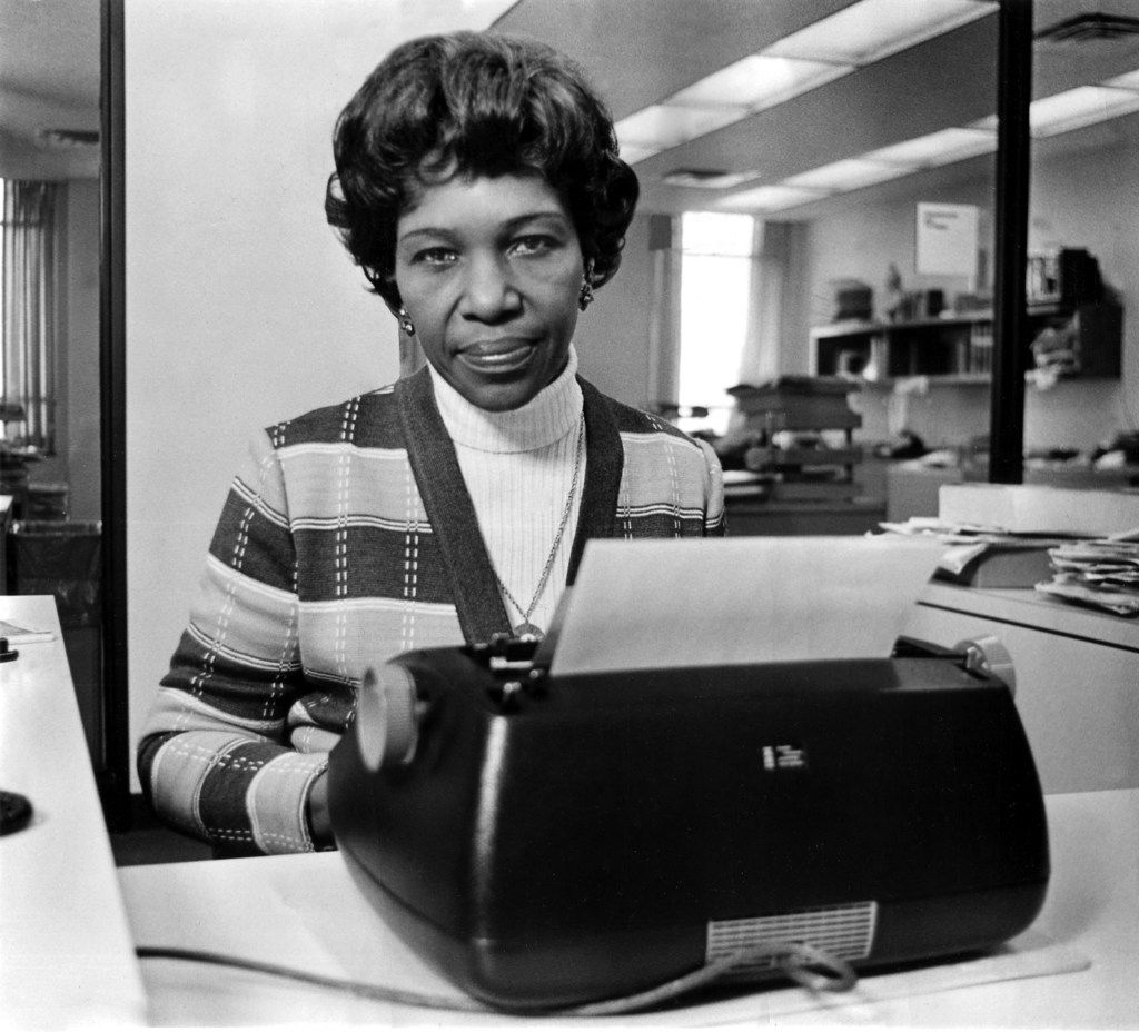 February 5, 1975 - Julia Scott Reed, Dallas Morning News columnist, is seen in this uncredited file photo. dmn125oct03story 10012010xNEWS DMN125BOOK 04262015xARTSLIFE ORG XMIT: DMN4025409