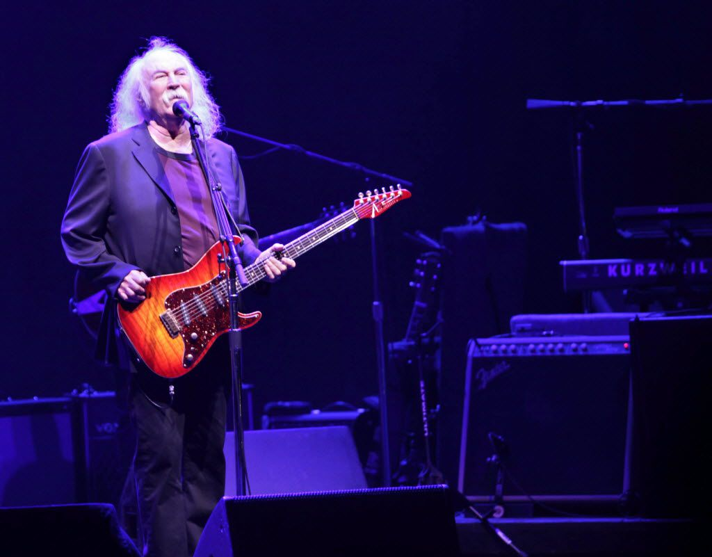 David Crosby performs at Verizon Theatre in Grand Prairie, TX, on Aug. 26, 2014.