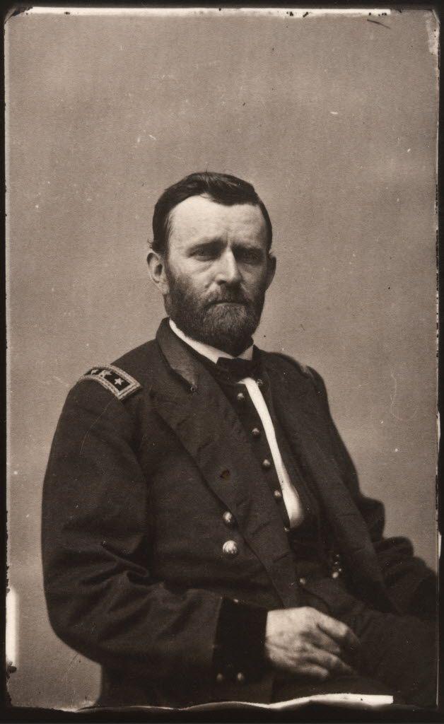 Ulysses S. Grant appears in a portrait, circa 1864, taken by famed portrait photographer Mathew Brady.