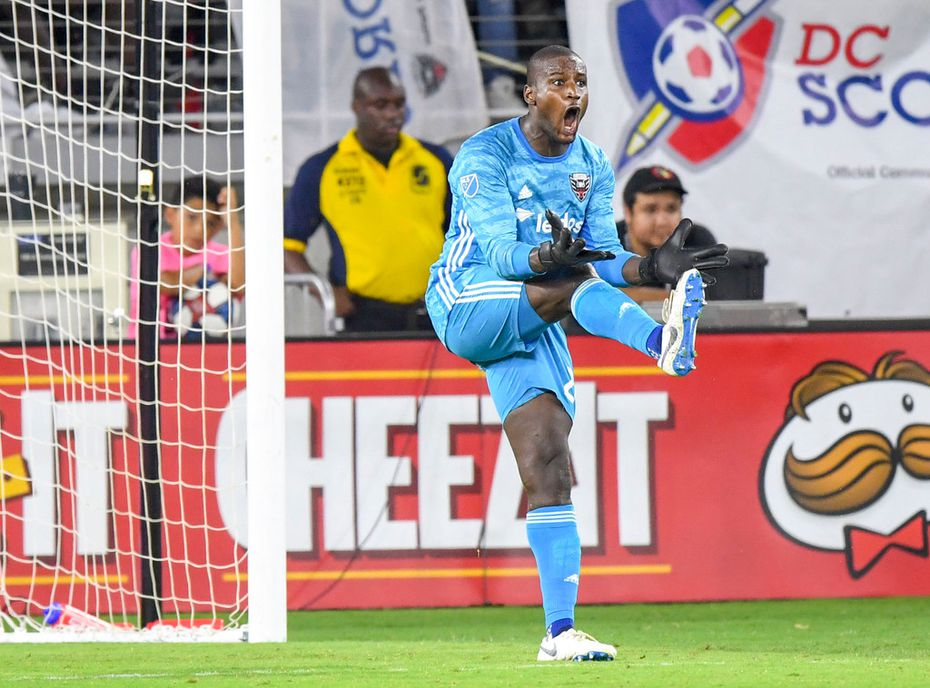 D.C. United goalkeeper Bill Hamid reacts after allowing the fourth goal of the game to the Philadelphia Union during United's 5-1 loss in Washington on Sunday, Aug. 4, 2019. MUST CREDIT: Washington Post photo by Jonathan Newton.