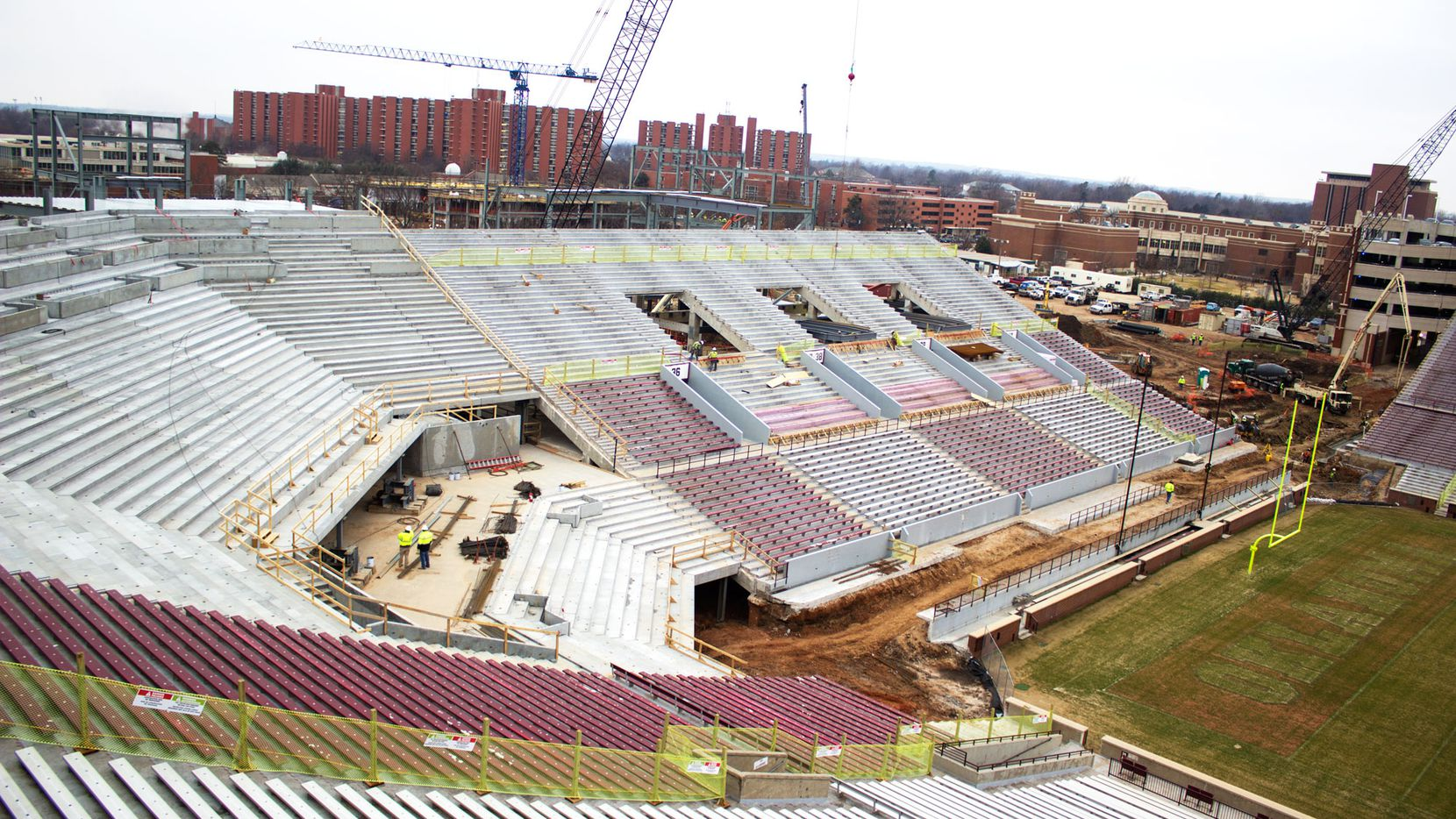 NORMAN, Okla. — Oklahoma continues with the first phase of its stadium construction project, which is expected to be completed in early August.