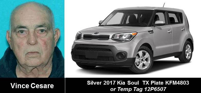 Cesare was last seen in 2017 Kia Soul that may have had temporary plates.
