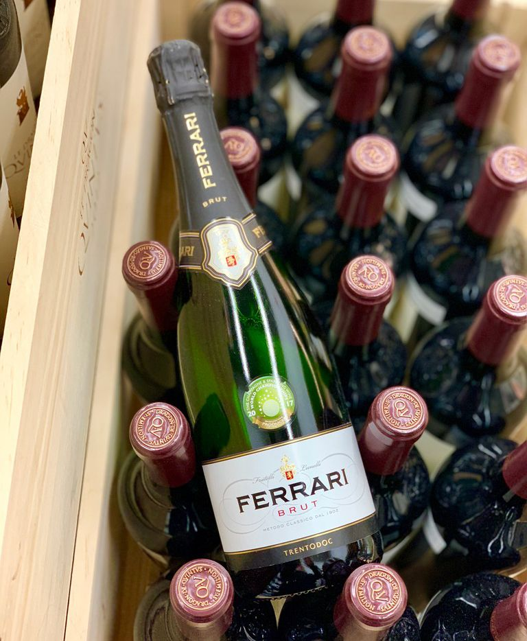 Ferrari Brut non-vintage sparkling wine can be difficult to find in Dallas-Fort Worth, but it's worth seeking out at retailers such as Central Market and Jimmy's Food Store in Dallas.