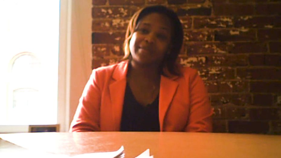 Candice Quarles sat for a brief police interview in 2017.