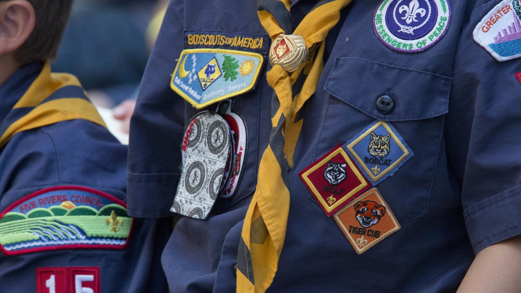 This week's recall affects uniform slides worn by Cub Scouts as they progress through the Lion, Tiger, Wolf and Webelo dens.