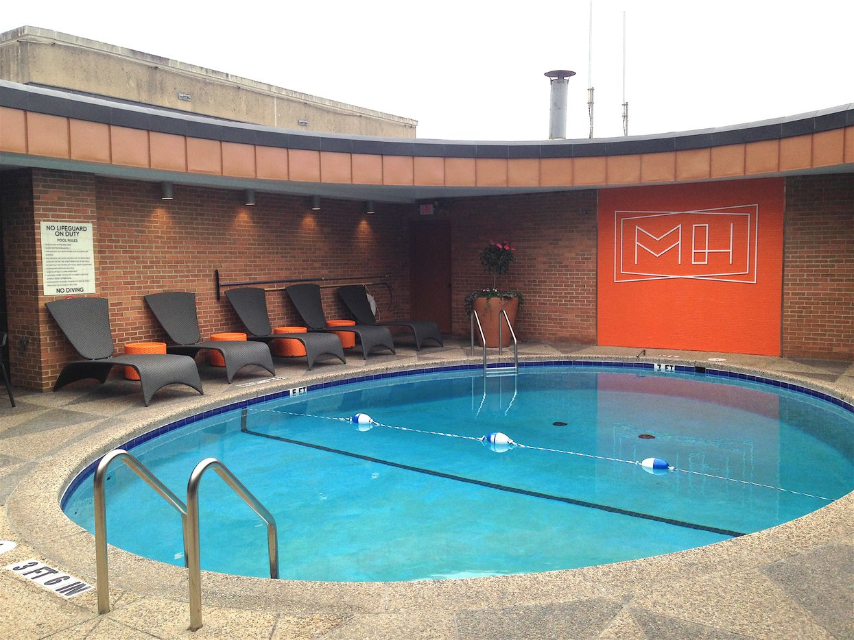 The pool deck at the Manor House apartments.