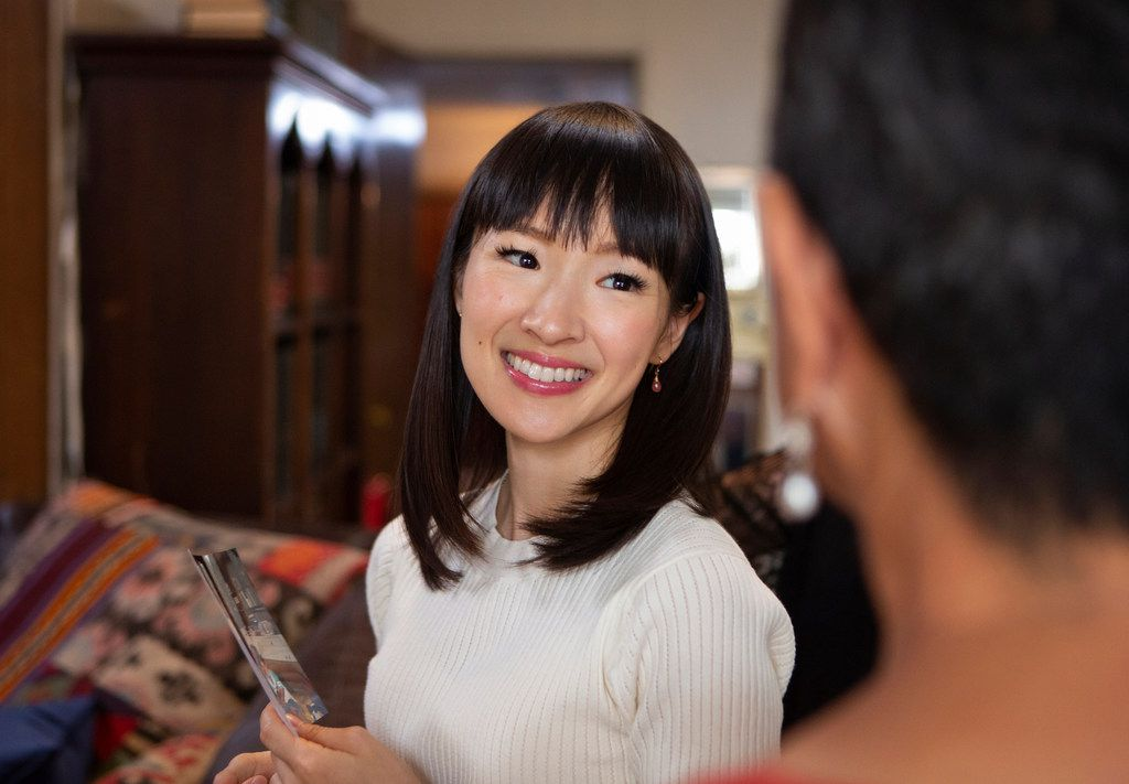 """This image released by Netflix shows Marie Kondo in a scene from her series """"Tidying Up with Marie Kondo."""""""