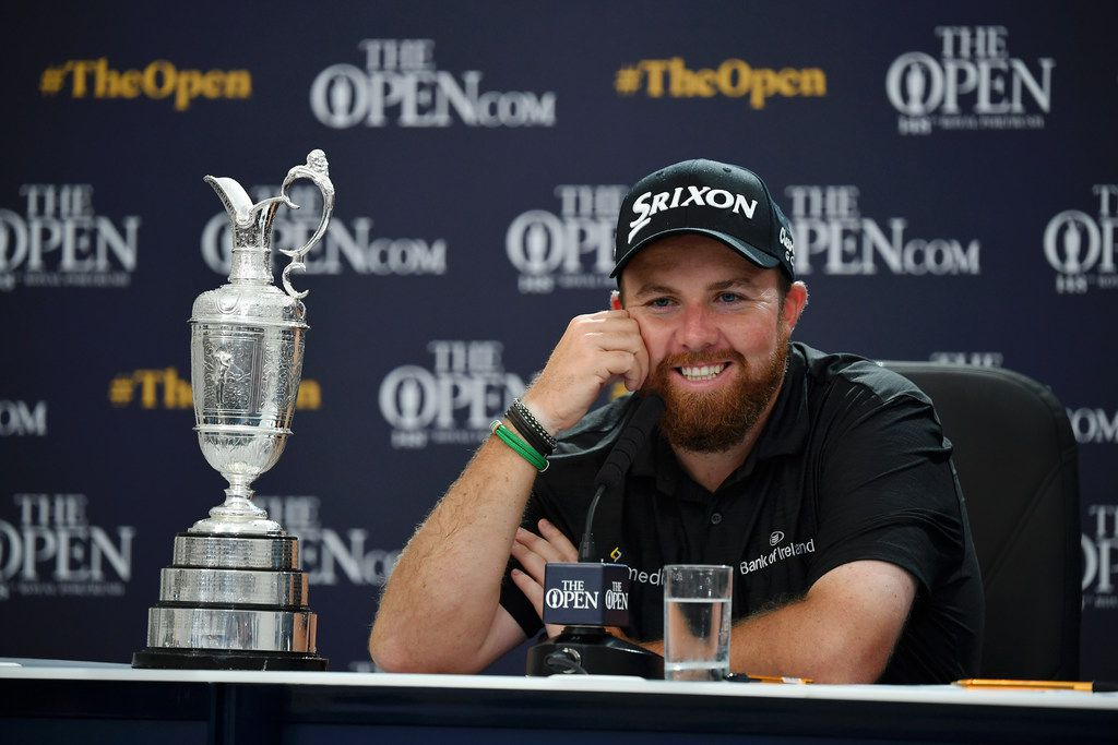PORTRUSH, NORTHERN IRELAND - JULY 21: Open Champion Shane Lowry of Ireland talks in a press conference after the final round of the 148th Open Championship held on the Dunluce Links at Royal Portrush Golf Club on July 21, 2019 in Portrush, United Kingdom. (Photo by Stuart Franklin/Getty Images)