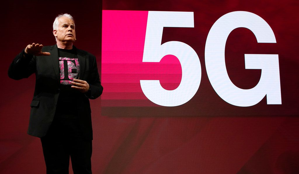 T-Mobile Chief Technology Officer Neville Ray details T-Mobile's plans to build a nationwide 5G network in the U.S. at Mobile World Congress on Tuesday in Barcelona, Spain.