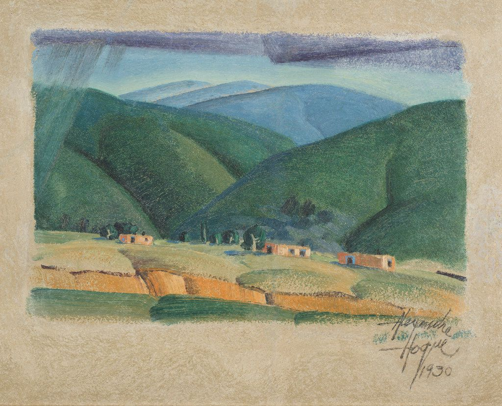 Alexandre Hogue (Am. 1898-1994) New Mexico,. Expected range: Between $50,000 and $80,000.