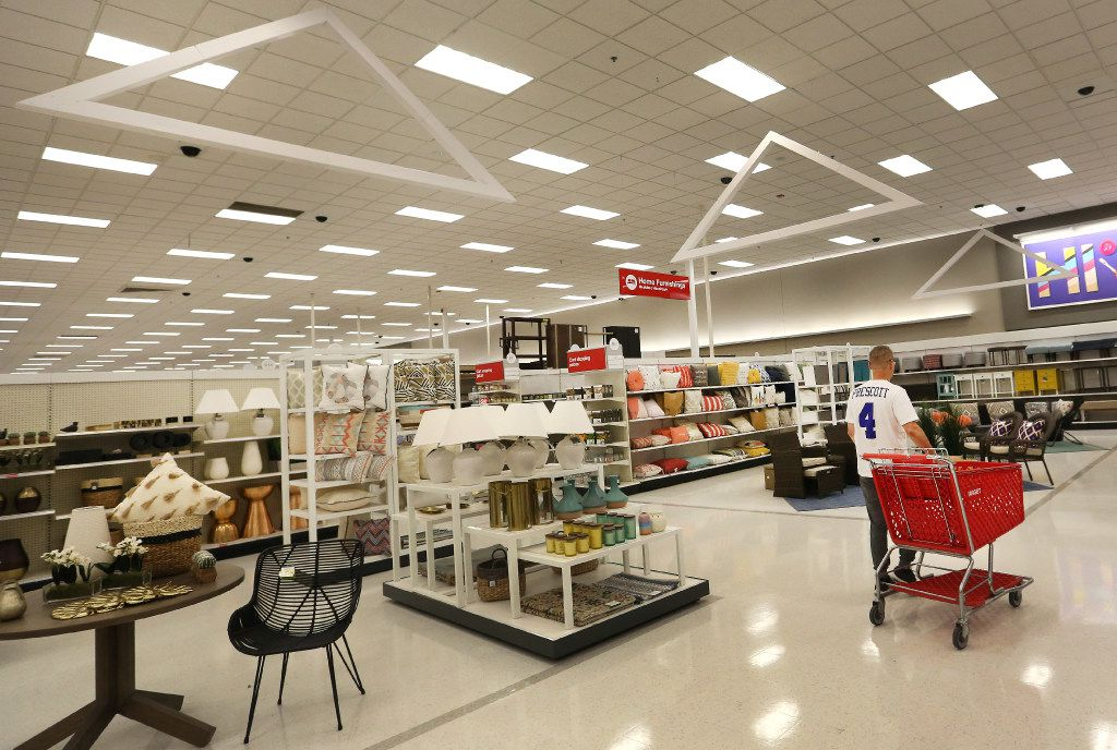 A look at the remodeled home furnishings display area at the Target store at Coit and Campbell in north Dallas, photographed on Tuesday, June13, 2017. (Louis DeLuca/The Dallas Morning News)