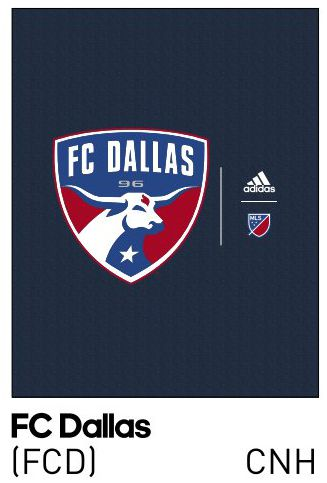 """The FC Dallas logo for the """"crest"""" style shirt."""