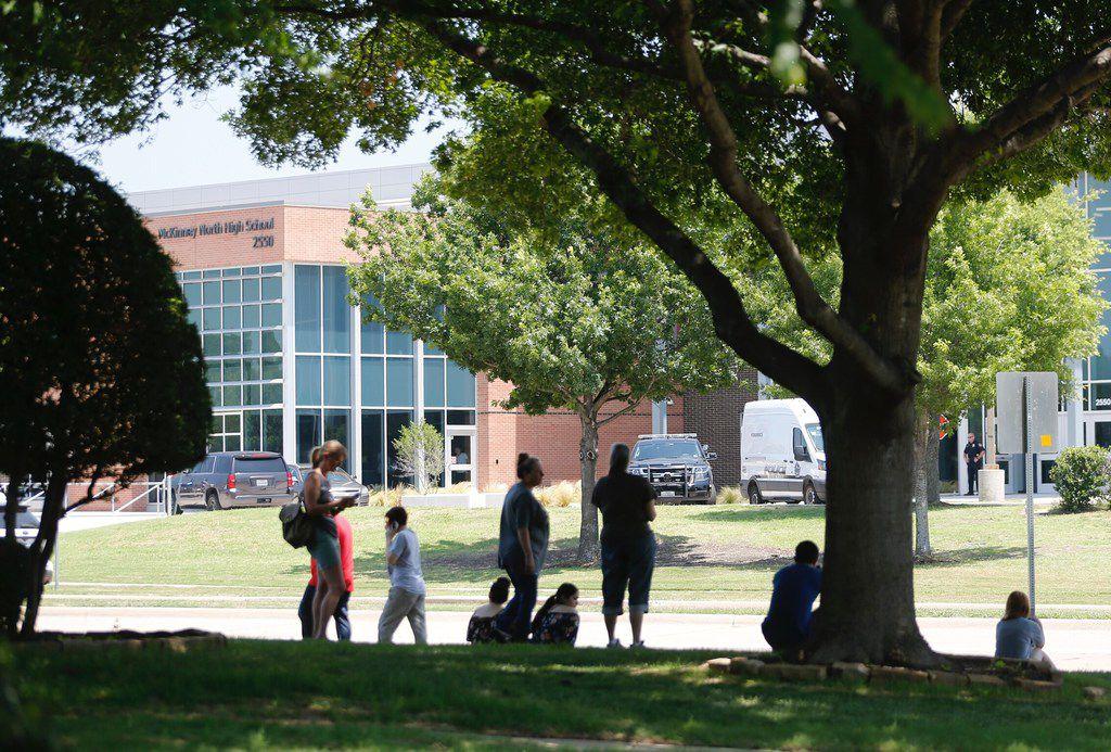 McKinney North High School on lockdown in McKinney on Friday, June 1, 2018.