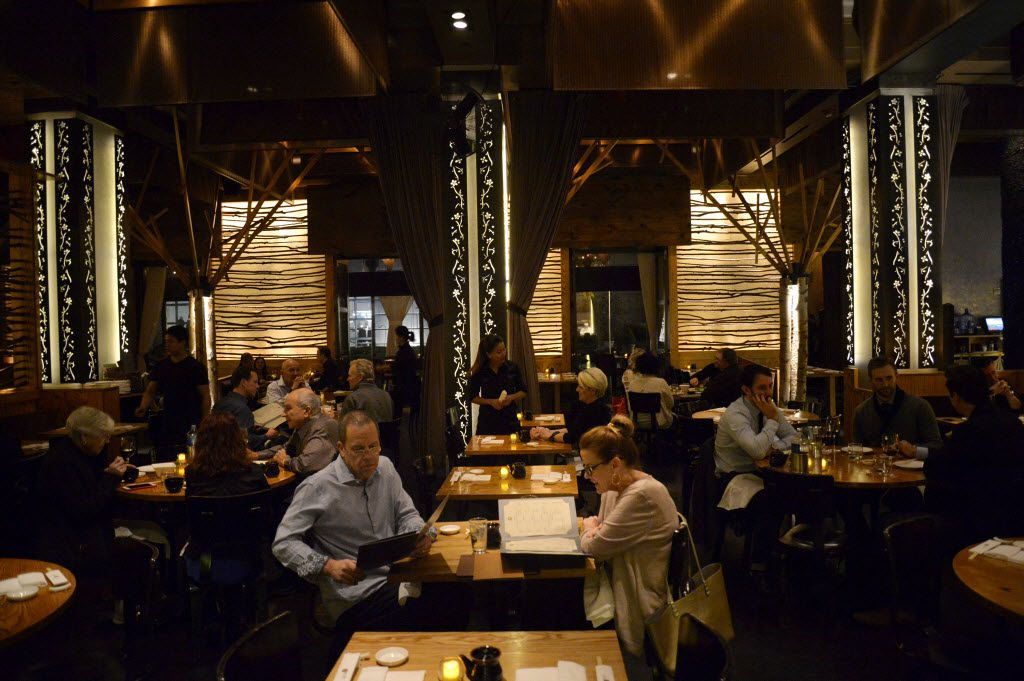 The dining room at Nobu Dallas in Dallas on Friday, Dec. 11, 2015. (Rachel Woolf/The Dallas Morning News)
