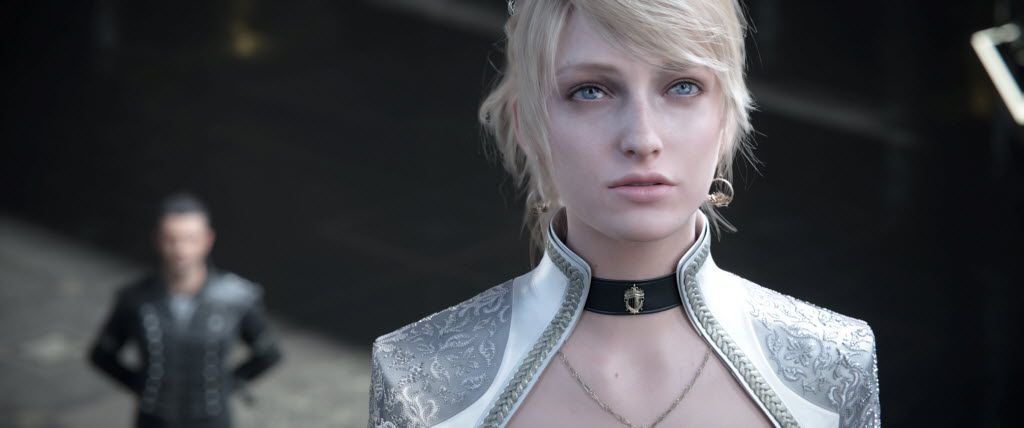 Lunafreya Nox Fleuret in Kingsglaive: Final Fantasy XV (Lena Headey provides her voice, Amanda Piery provides the motion capture).