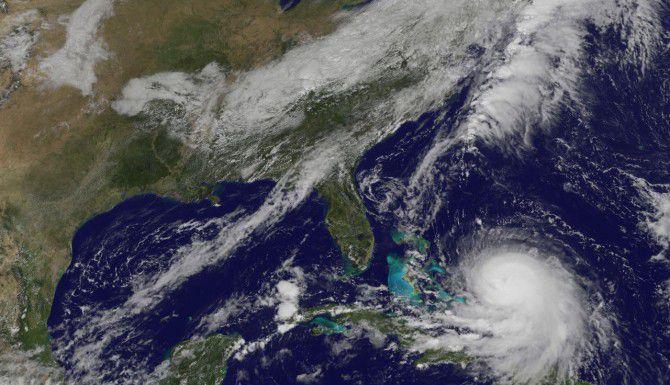 El trayecto de Joaquín pasó por las Bahamas y podría llegar a a la Costa Este. (TNS/NASA)