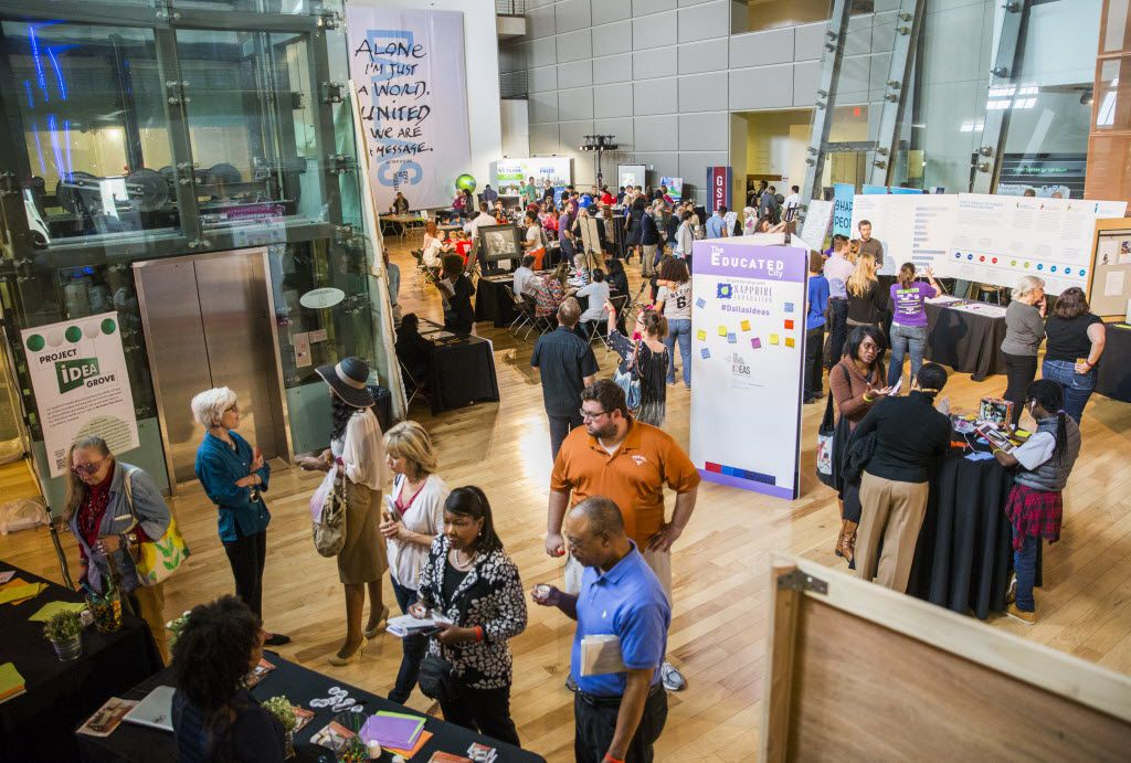 People explore the Women's Museum during The Dallas Festival of Ideas on Saturday, February 20, 2016 at Fair Park in Dallas.  (Ashley Landis/The Dallas Morning News)