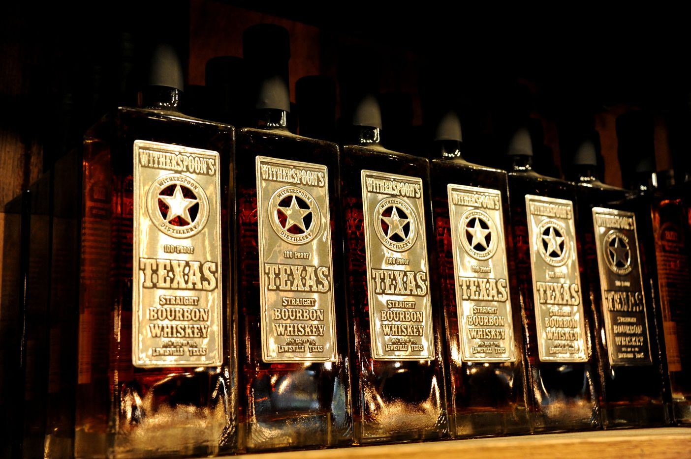 Texas Straight bourbon whiskey features an oaky vanilla and toffee taste at Witherspoon Distillery in Lewisville, TX on October 24, 2015.