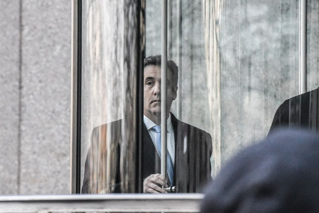 Michael Cohen, the former lawyer for President Donald Trump, walks into federal court in Manhattan on Wednesday for his sentencing hearing.