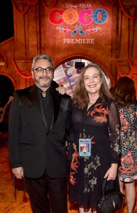 Solís en una premier de Coco en Los Ángeles. Foto AP