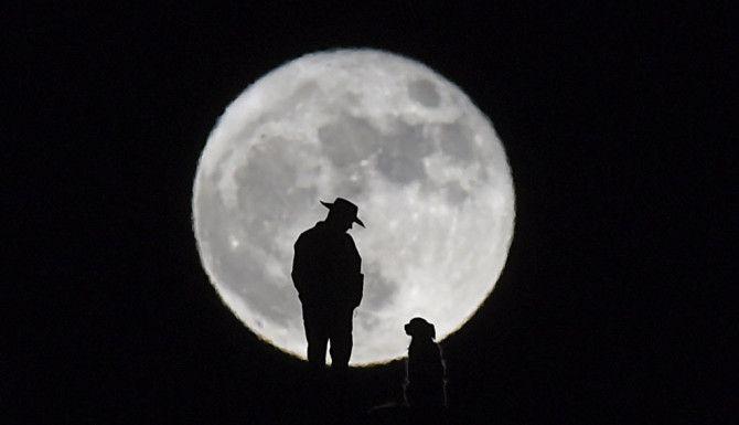 La Súper Luna desde Nevada ./AP