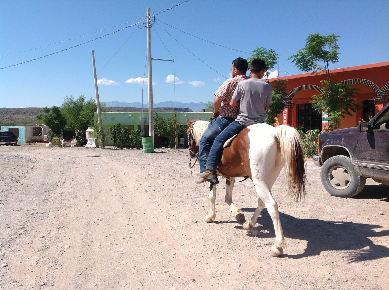 Residents of Boquillas rent their horses burros to tourists who want a ride from the village back to the banks of the Rio Grande where they catch the ferry.