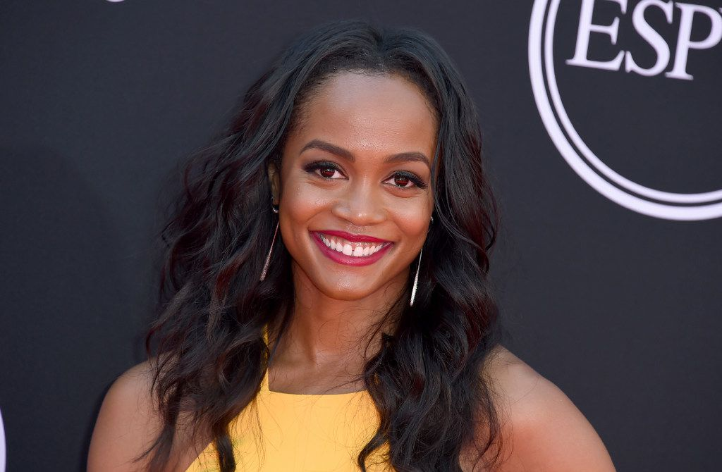 Rachel Lindsay arrives at the ESPYS at the Microsoft Theater on Wednesday, July 12, 2017, in Los Angeles.