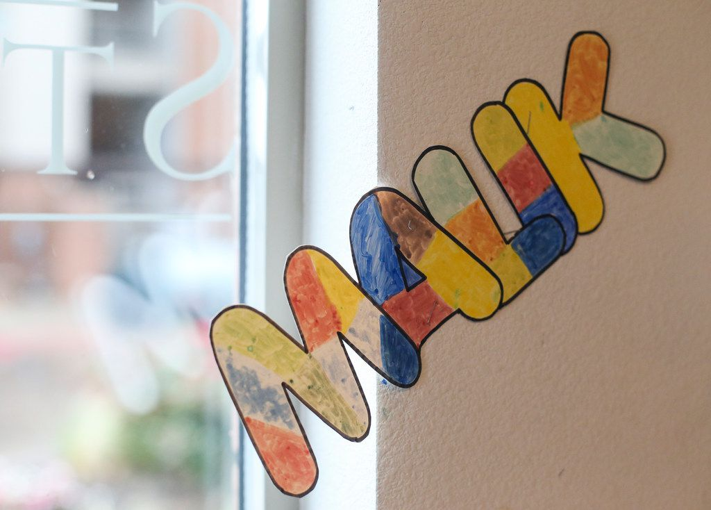 """Malik"" hangs on the wall of a community center day care near where 13-year-old Malik Tyler, of Dallas, was killed after being caught in the crossfire of a shootout near a Pleasant Grove gas station Tuesday evening on Wednesday, June 5, 2019 in Dallas. ""He had a heart of gold,"" said Camille Mitchell, a day care program leader who said Tyler was a regular attendee. ""He was a good kid, a good student and always wanted to help any way he could."" (Ryan Michalesko/The Dallas Morning News)"